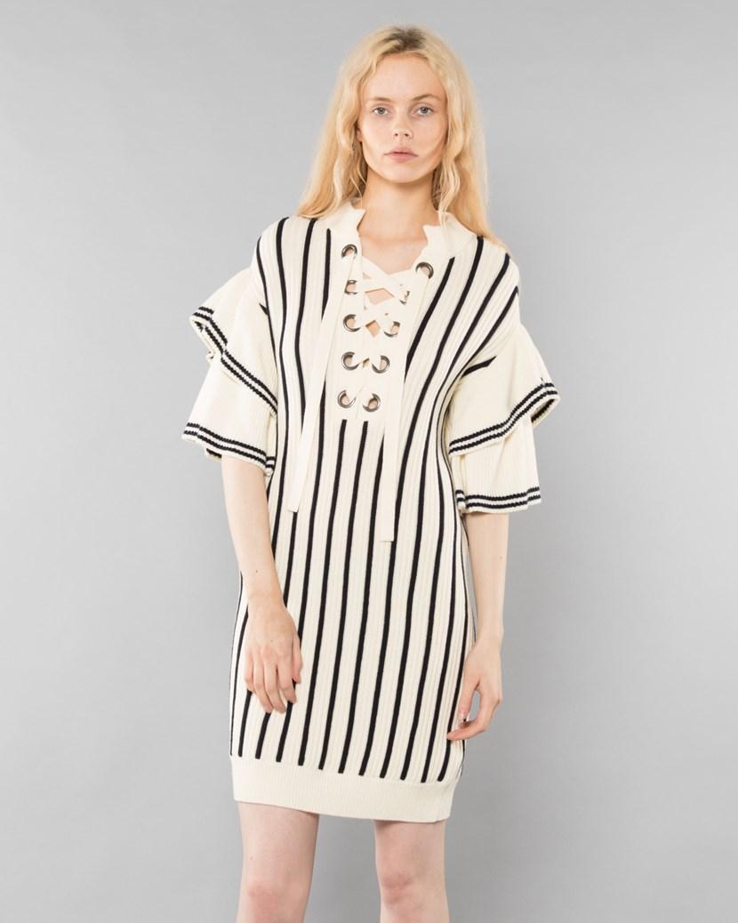 7f2f7da3aca Monochrome Stripe Dress Knit Dress by Self Portrait