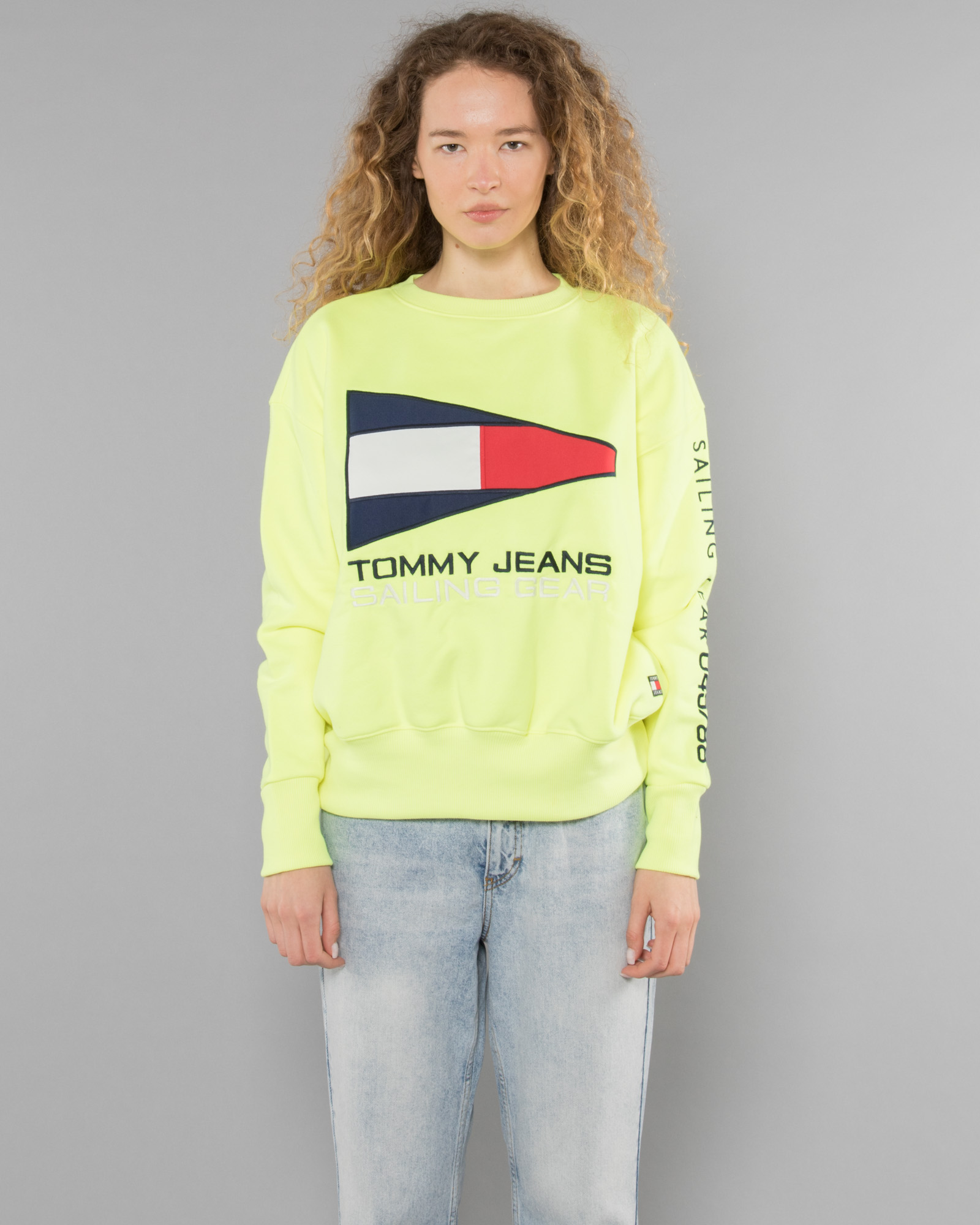 b6b342ce Tommy Jeans 90s Capsule 5.0 Long Sleeve T Shirt With Logo Sleeve