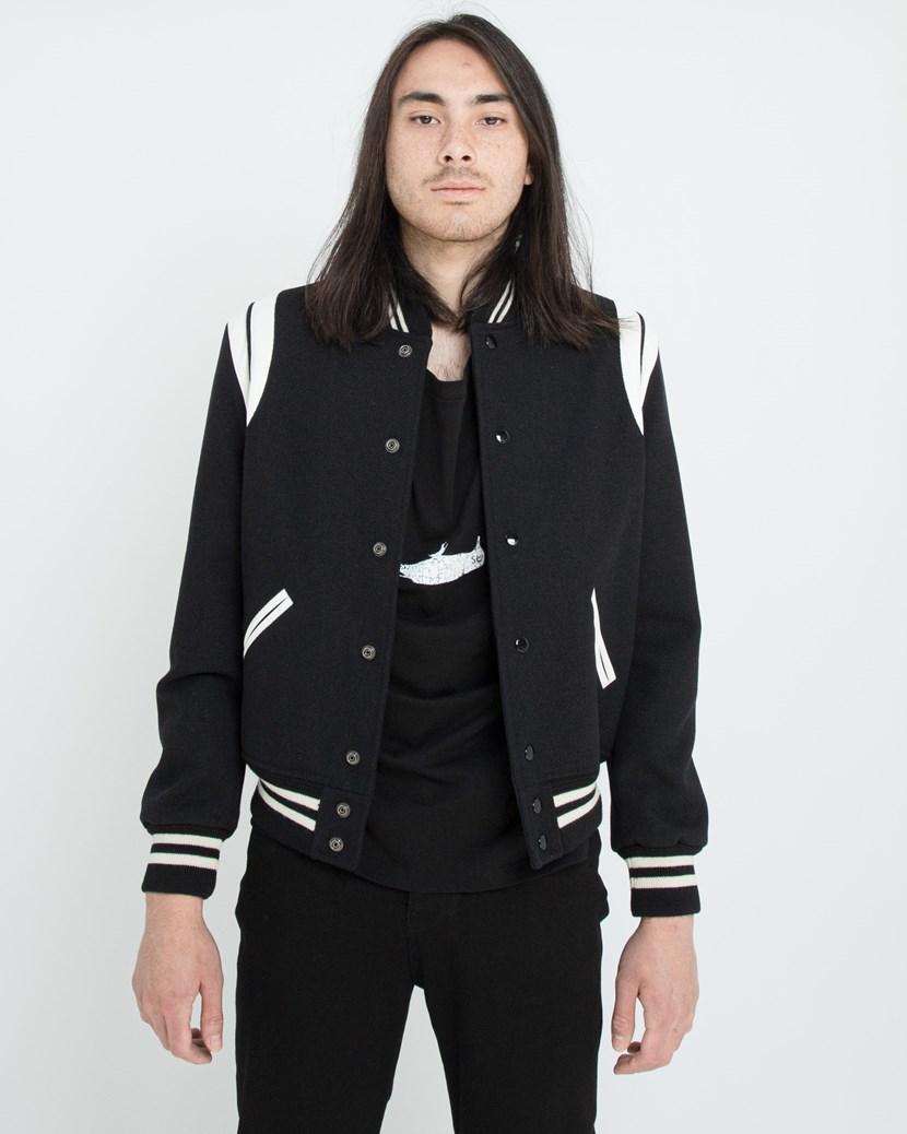 244408518 Teddy jacket In Wool by Saint Laurent