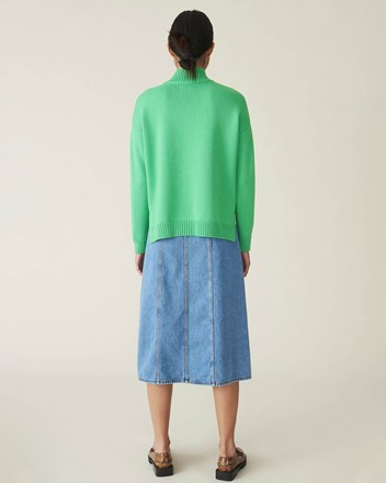 Wool Knit Oversized Pullover
